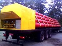 Передвижной автогазозаправщик ПАГЗ 5500-32 с дожимным компрессором